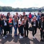 Uczniowie Akademickiego Liceum Ogólnokształcącego na wycieczce w Toruniu.